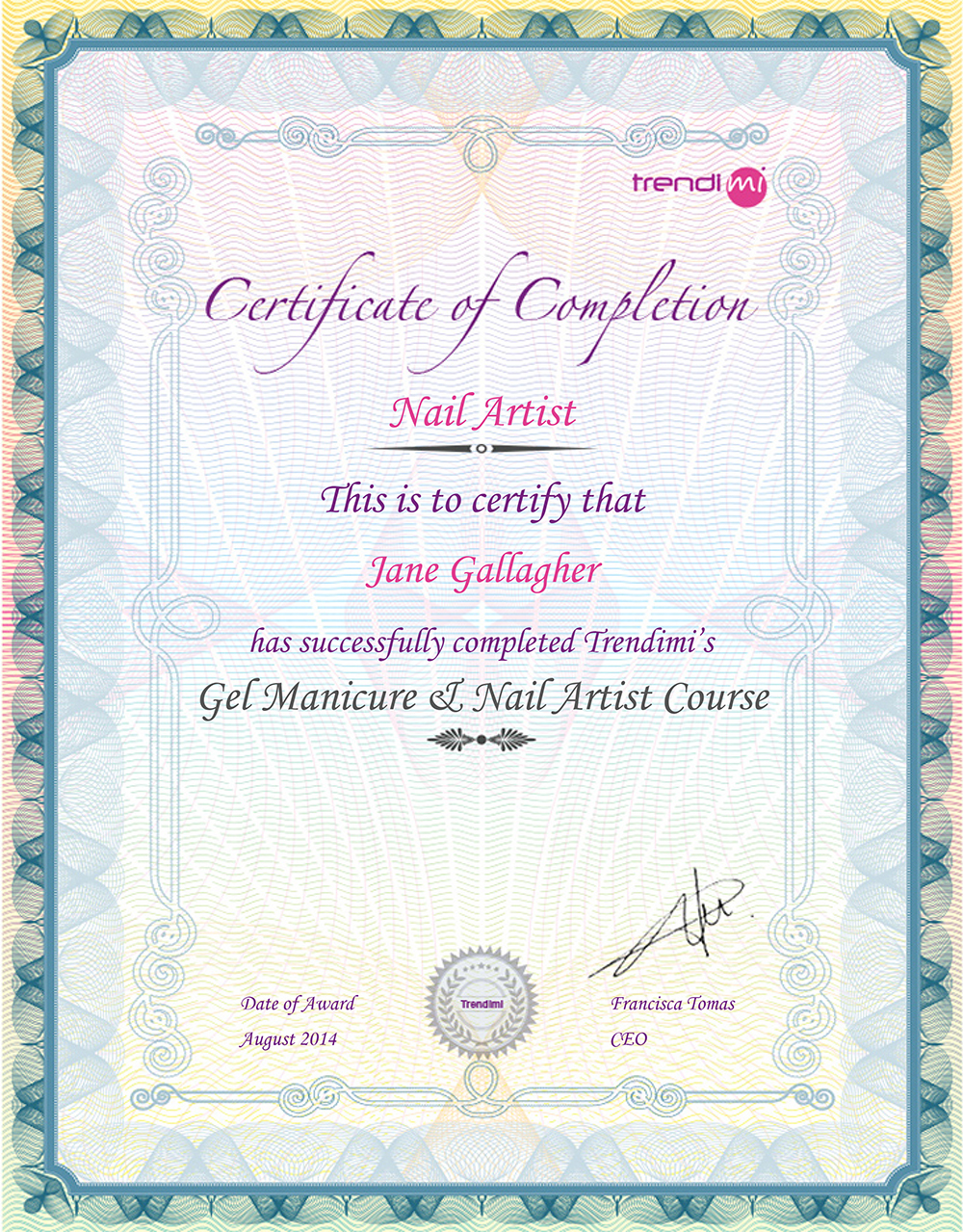 Online beauty course trendimi academy your icoes certificate allows you to prove to employers colleagues and customers that your qualification is from a well run ethical institution that meets xflitez Choice Image